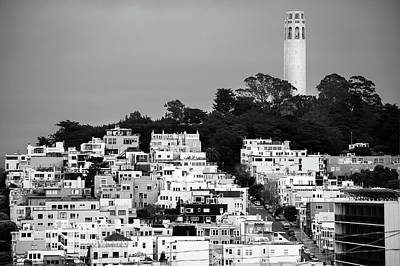 Photograph - Coit Tower View In San Francisco California Usa - Black And White by Gregory Ballos