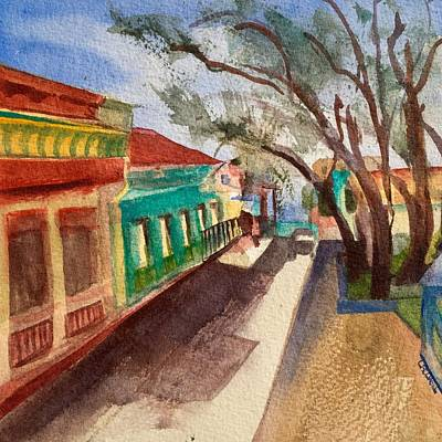 Painting - Cojimar Fishing Village by Lynne Bolwell