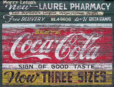 Digital Art - Coke Barn Sign by Gary Grayson