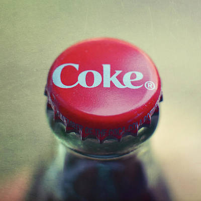 Photograph - Coke Bottle Cap Square by Terry DeLuco