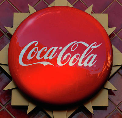 Photograph - Coke Button Style Sign by David Lee Thompson