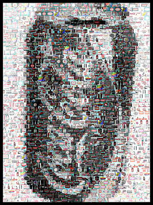 Coke Can Mosaic Art Print