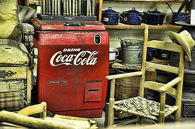 Photograph - Coke Cooler In The Old Store by Jan Amiss Photography