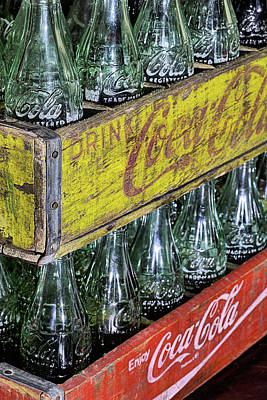 Photograph - Coke Crates by JC Findley