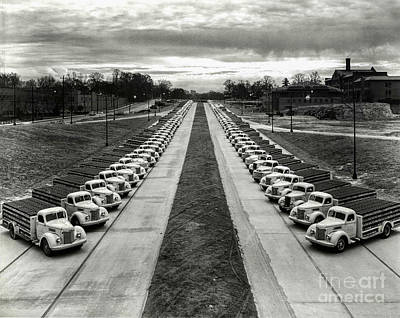 Chevy Truck Photograph - Coke Delivery Truck Fleet by Jon Neidert