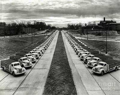 Model T Photograph - Coke Delivery Truck Fleet by Jon Neidert