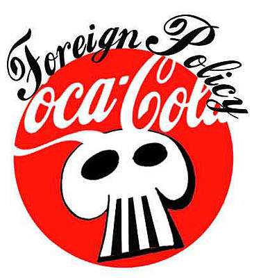 Digital Altered Drawing - Coke Foreign Policy by Jonathan Smith