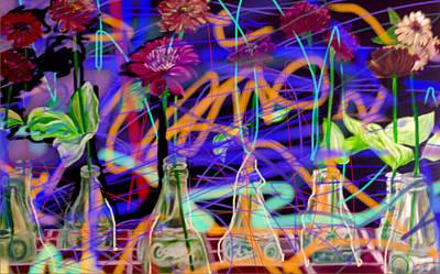 Coke Graffiti Art Print by Suzaine Smith