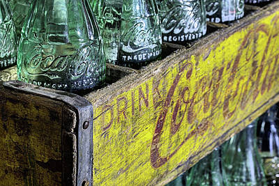 Photograph - Coke In A Wooden Crate by JC Findley