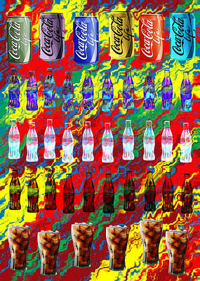 Digital Art - Coke Life, Happy Life by Saad Hasnain
