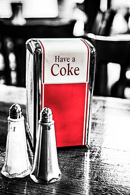 With Red. Photograph - Coke Napkins by Karol Livote