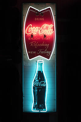 Coca-cola Signs Photograph - Coke Neon Sign by Jon Berghoff