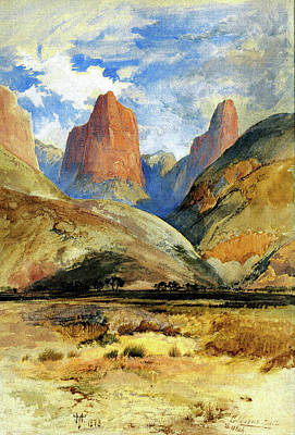 Painting - Colburns Butte South Utah by Thomas Moran