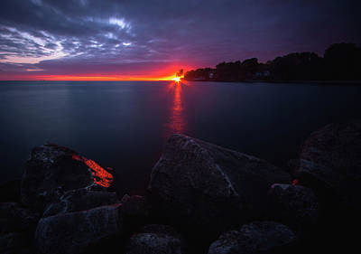 Lake Erie Wall Art - Photograph - Colchester Sunset by Cale Best