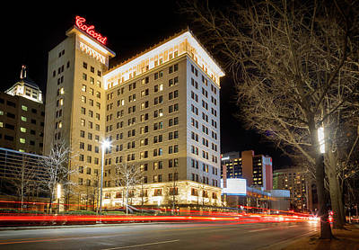 Photograph - Colcord At Night by Ricky Barnard