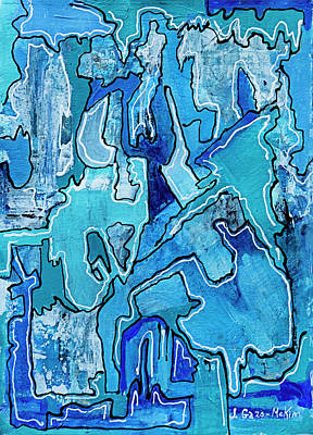 Painting - Cold As Ice 1 by Jo-Anne Gazo-McKim