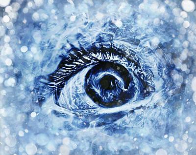 Digital Art - Cold As Ice by Rhonda Barrett