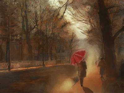 Mixed Media - Cold Autumn Morning Painting by Eduardo Tavares