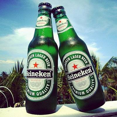 Beer Photograph - #cold #beer #heineken #bottle #couple by Stan Chashchnikov