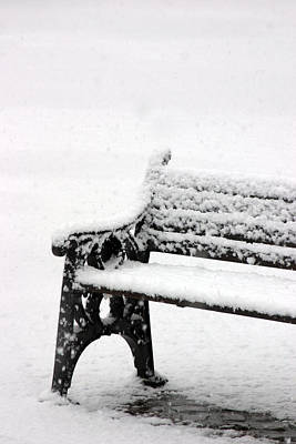 Cold Bench Art Print by Jez C Self