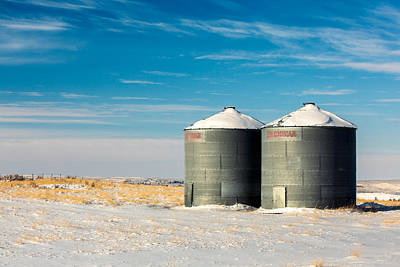 Snow-covered Landscape Photograph - Cold Bins by Todd Klassy