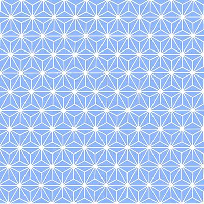 Digital Art - Cold Blue Geometric Flowers And Florals Isosceles Triangle by Tracey Harrington-Simpson