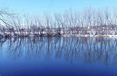 Photograph - Cold Blue Pond by Thomas Samida