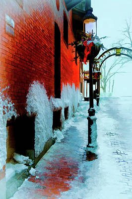 Digital Art - Cold Boston Alley Near The Common by Thomas Logan