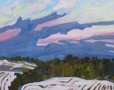 Painting - Cold Cloud Fingers by Phil Chadwick