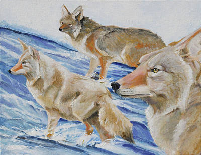 Painting - Cold Crossing by Pam Little