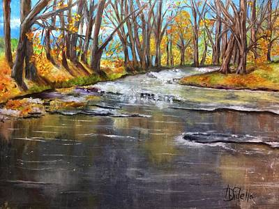 Painting - Cold Day At The Creek by Annamarie Sidella-Felts