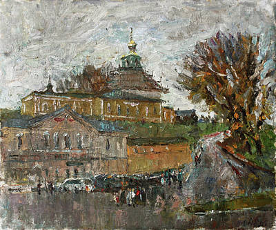 Painting - Cold Day In Volokolamsk by Juliya Zhukova