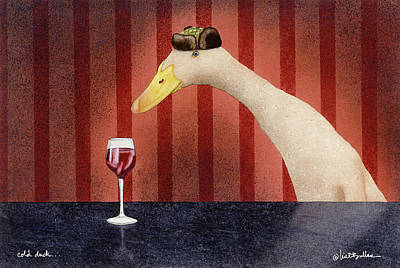 Happy Hour Wall Art - Painting - Cold Duck... by Will Bullas