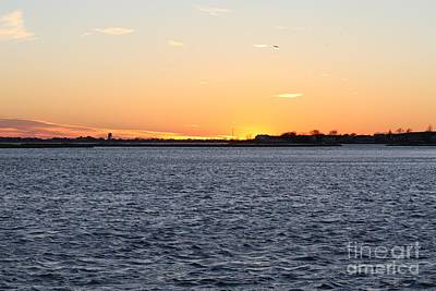 Photograph - Cold Fall Sunset Over Freeport Ny by John Telfer