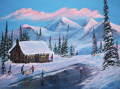 Ski Painting - Cold Feet Warm Heart by Michael Scott