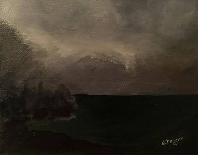 Painting - Cold Fog And Sea by Esperanza J Creeger