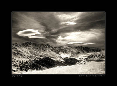 Photograph - Cold Front Over The Continental Divide Poster by Wayne King