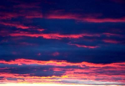 Cold Front Sunset One Art Print by Ana Villaronga