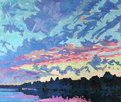 Thousand Islands Painting - Cold Front Wake by Phil Chadwick