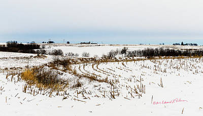 Photograph - Cold Iowa Day by Edward Peterson