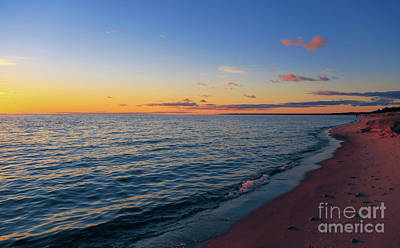 Photograph - Cold Lake Michigan Sunset by Rachel Cohen