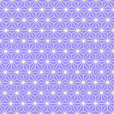 Digital Art - Cold Lilac Geometric Flowers And Florals Isosceles Triangle by Tracey Harrington-Simpson
