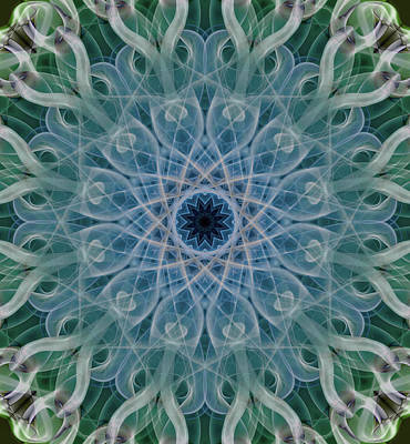 Photograph - Cold Mandala In Blue And Grey Tones by Jaroslaw Blaminsky
