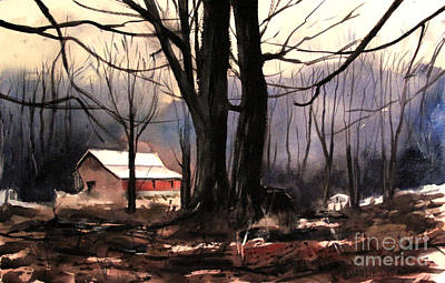 Cold Mists Behind The Ol Place Art Print by Charlie Spear