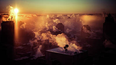 Photograph - Cold Morning Sunrise by City Street Photos
