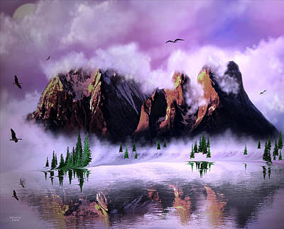 Digital Art - Cold Mountain Morning by Artful Oasis