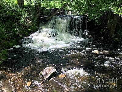 Photograph - Cold Mountain Waterfall  by Susan Carella
