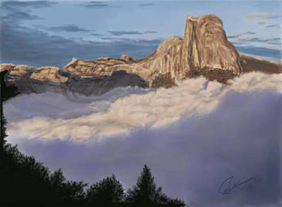Painting - Cold Mountains by Elly Potamianos
