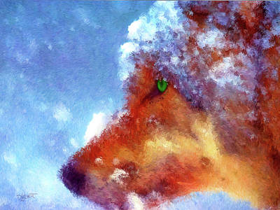 Digital Art - Cold Nose by Dave Luebbert