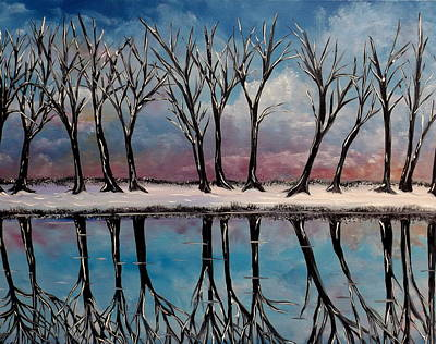 Painting - Cold Promises Frozen Time by Lisa Aerts